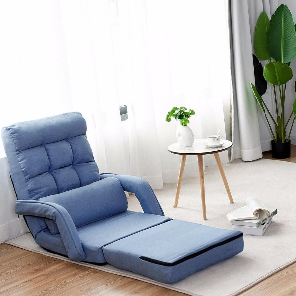 Brilliant Folding Sofa Lazy Linen Modern Floor Chair Lounger Bed With Gamerscity Chair Design For Home Gamerscityorg