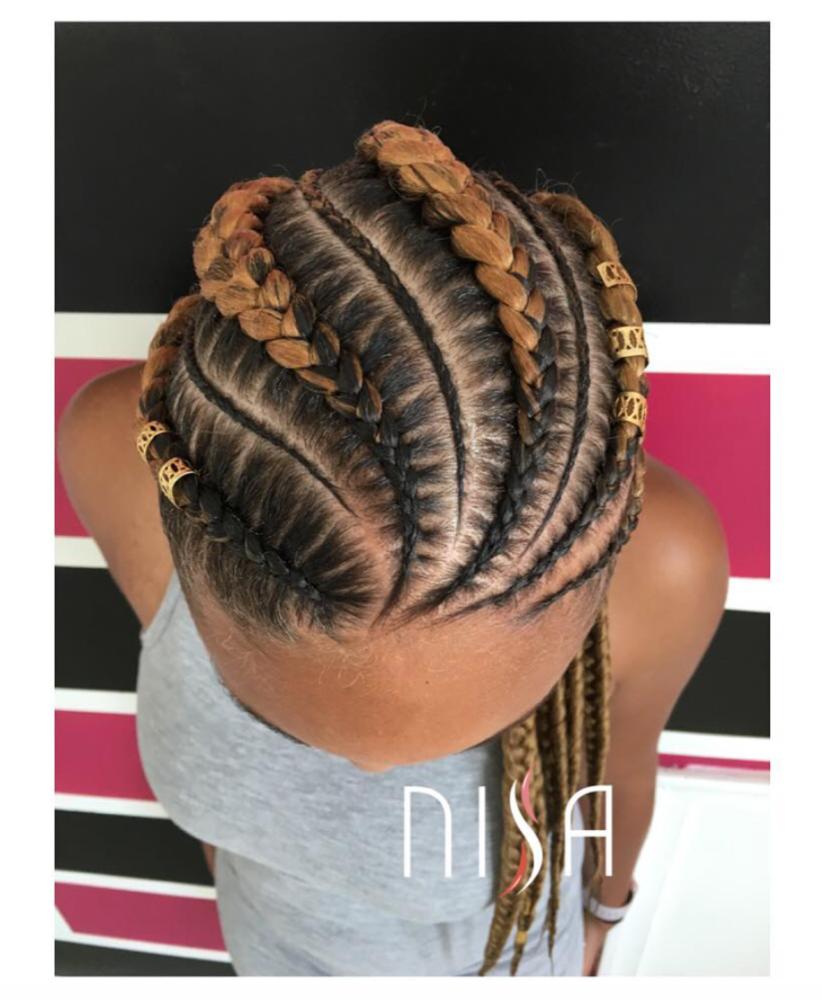 Tresses coll es avec rajouts sur cheveux afro cr pus naturels coiffures pinterest tresses - Nattes collees modeles ...