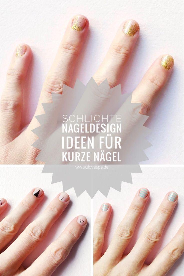 Minimal Manicure - Schlichte Nageldesign Ideen für kurze Nägel ...