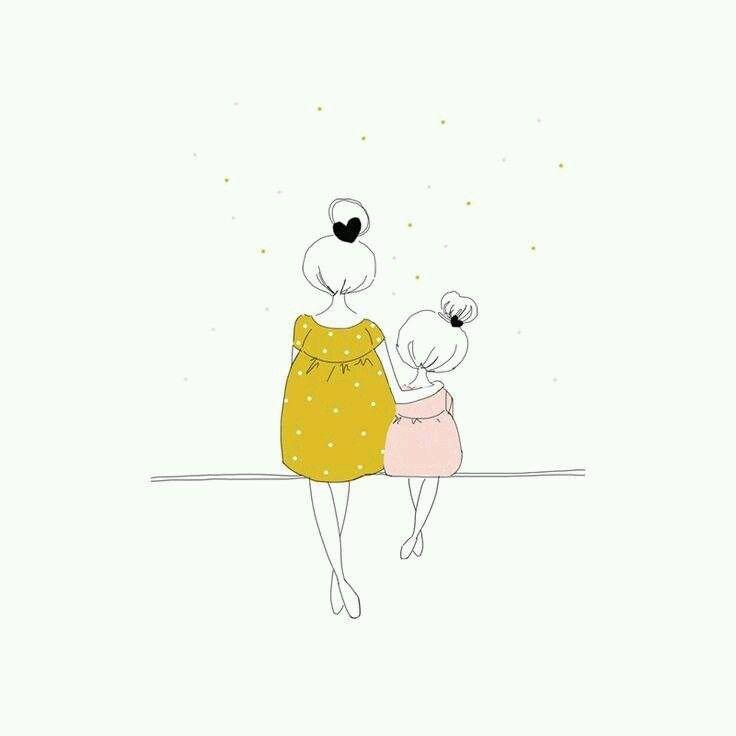 Mère Et Fille Dessin Maman Dessins Mignons Et