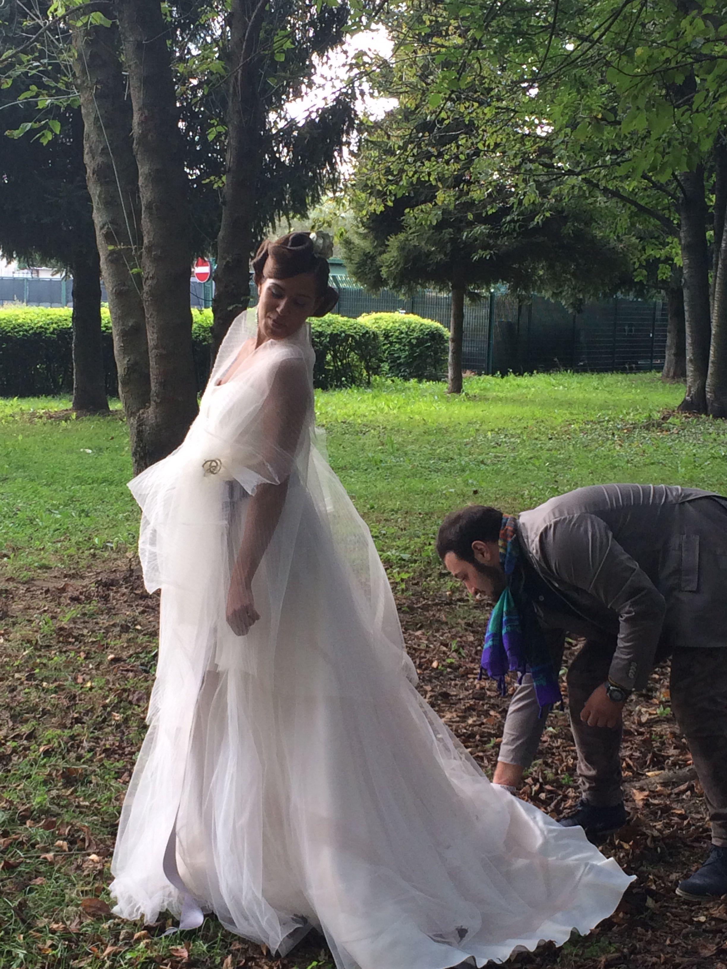Shooting Alessandro Tosetti Collezione Rose2015 #wedding #abitidasposa2015 #tosetti #tosettisposa