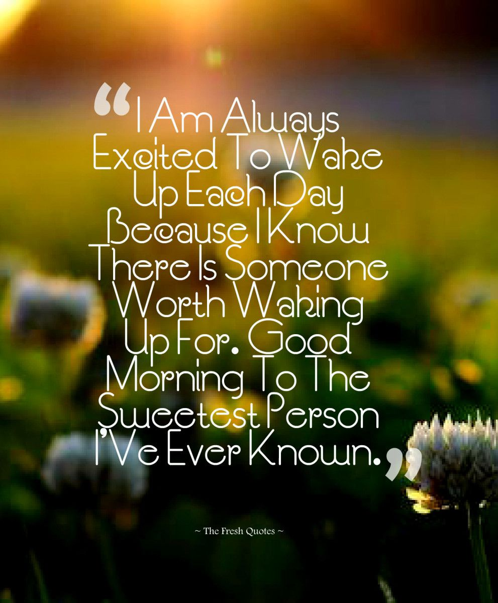 Cute & Romantic Good Morning Wishes Quotes & Sayings