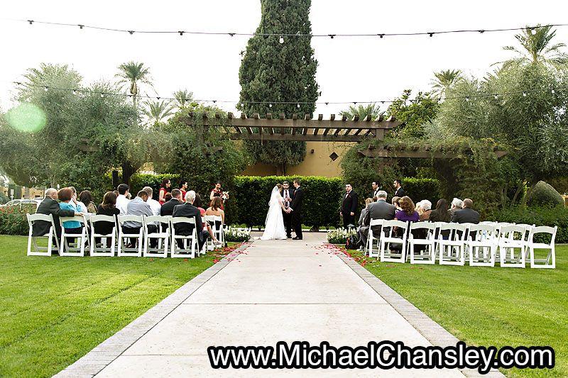 Small Wedding Ceremony Held At The Omni Scottsdale Resort Spa Montelucia Venue In