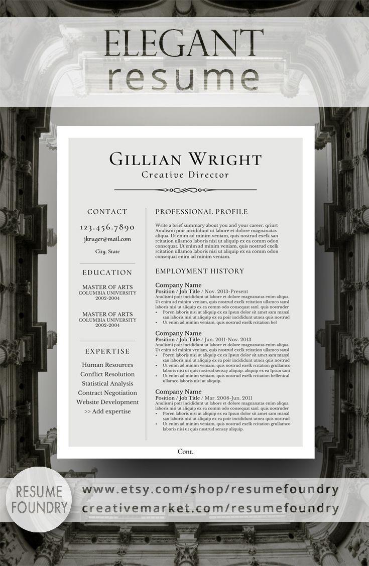 Elegant resume design that organizes your information so