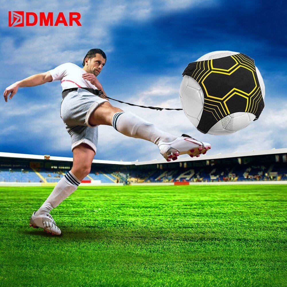 Dmar Football Kick Solo Trainer Belt Adjustable Swing Bandage Control Soccer Training Aid Equipment Waist Belts Drop Soccer Training Soccer Ball Soccer Trainer