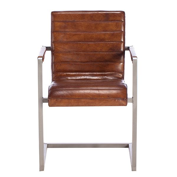 Us Chair Vintage Leather Dining Light Brown Available Online At Barker Stonehouse