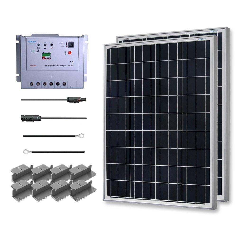 Renogy 200 Watt 12 Volt Poly Solar Starter Kit w/ Mppt Charge