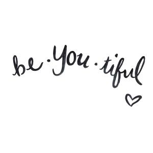 Brush Script Quote Print Hand Lettering Black White Beautiful Be You
