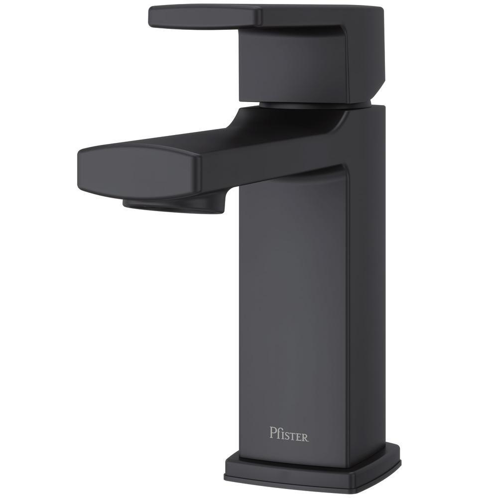 Pfister Deckard Single Hole Single-Handle Bathroom Faucet in Matte ...
