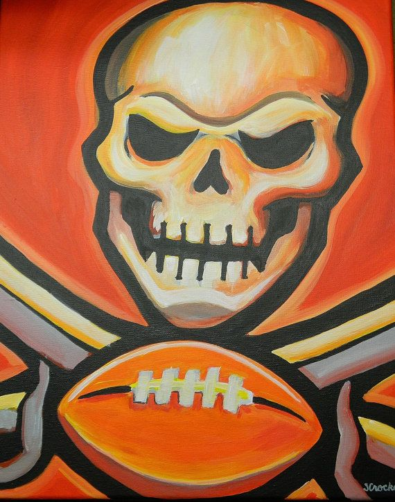 Tampa Bay Buccaneers Painting Sports Art Football Sports Art Art Gallery Wrap Canvas