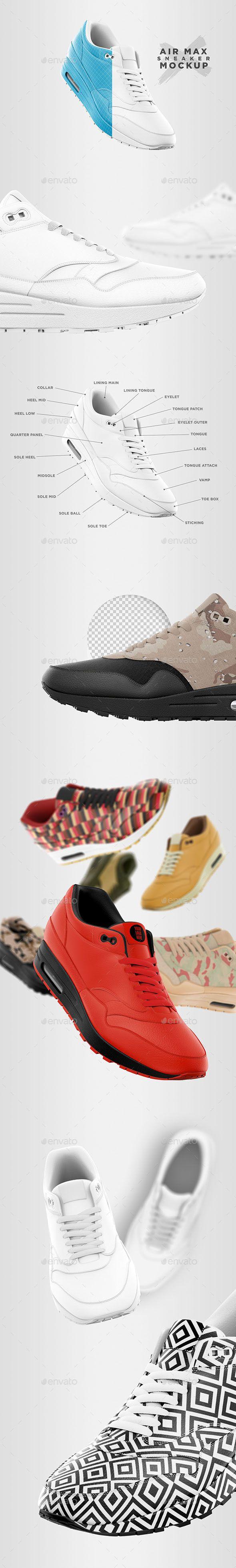 Download Air Max Sneaker Mockup Clothing Mockup Air Max Sneakers Air Max