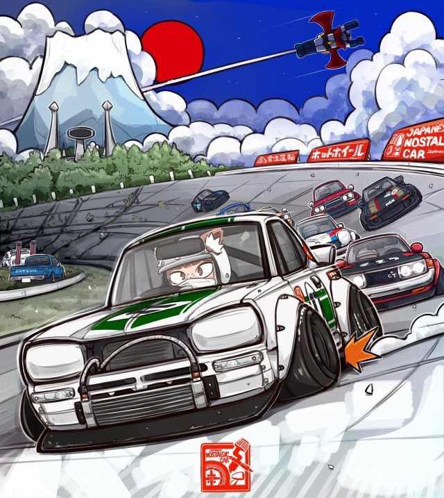 Hakosuka Cartoon | Art cars, Automotive illustration ...