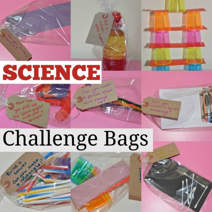 Science Challenge Bags - Science Sparks