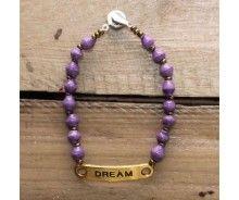 Dream Ugandan Paper Bracelet, purple and multi-color beads from 22STARS