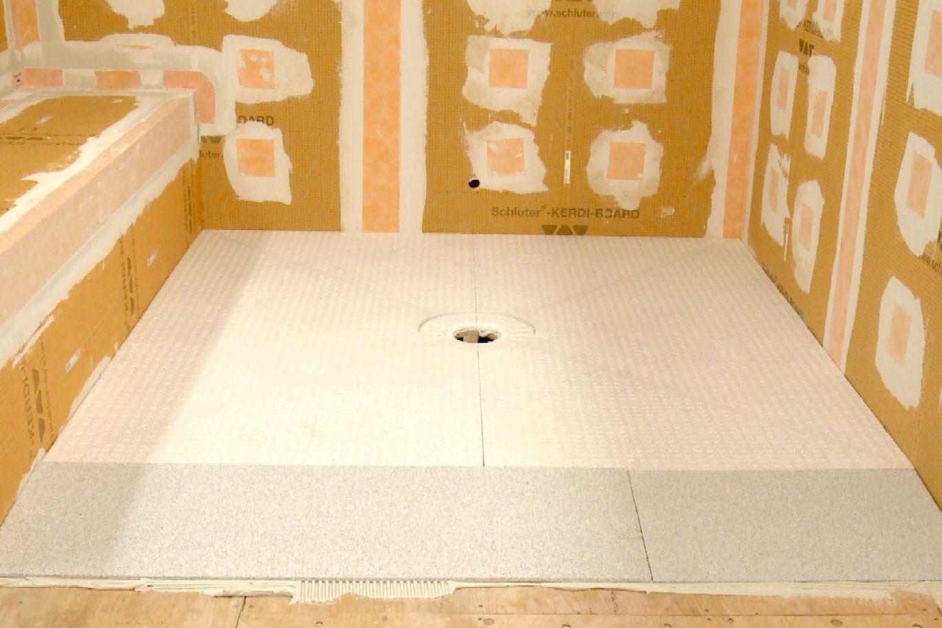 Schluter Kerdi Shower Sr Ramp Renovation For Curbless Shower Shower Systems Shower Renovations