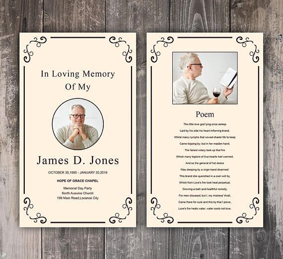 Funeral Prayer Card Template Editable Ms Word Photoshop Template Instant Download Funeral Prayers Memorial Cards Prayer Cards