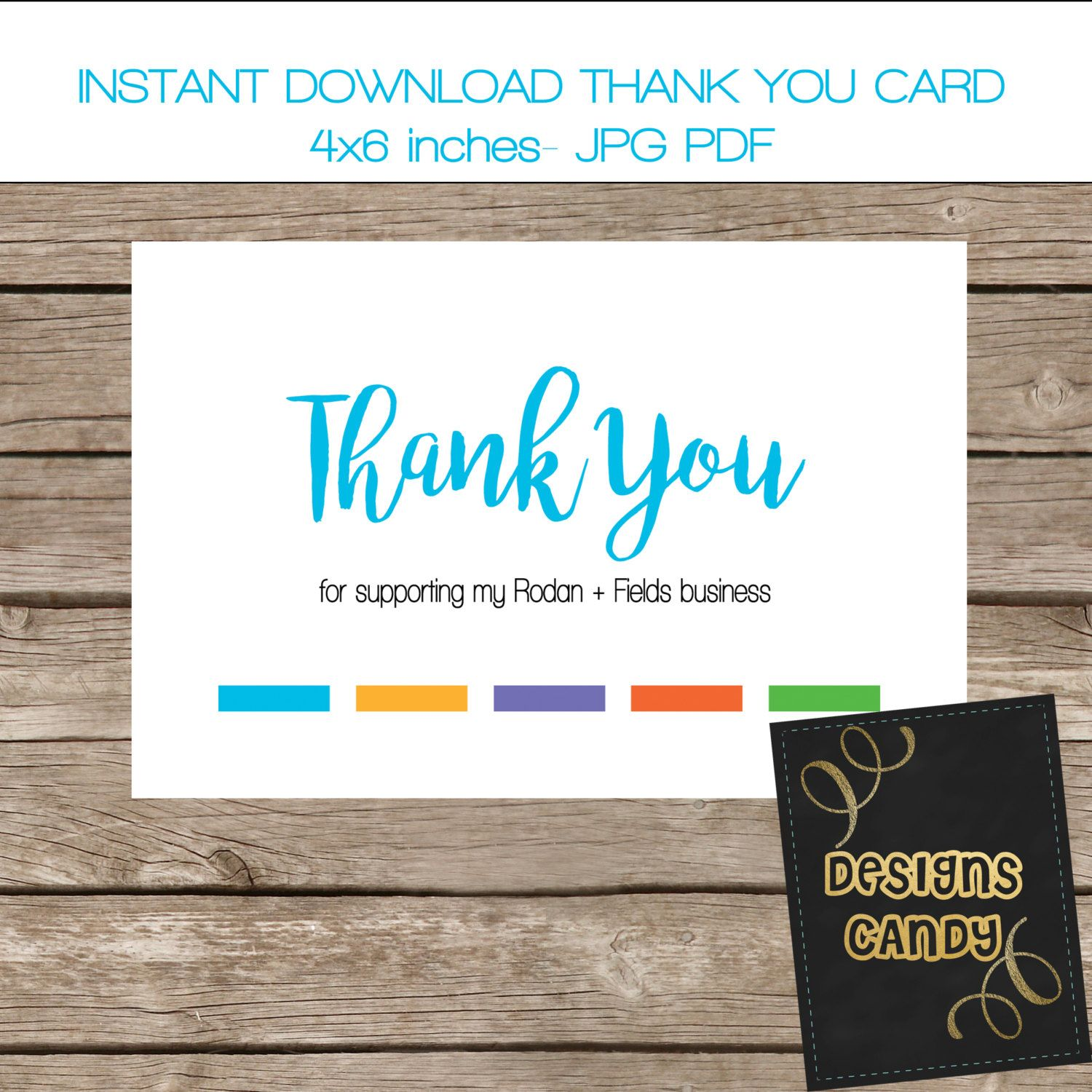 Thank you card Rodan Fields Independent Consultant RF Thank you