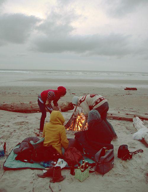 Marshmallows na praia