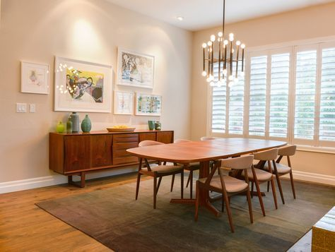 Mid Century Modern Rug Dining Room Contemporary With Clean