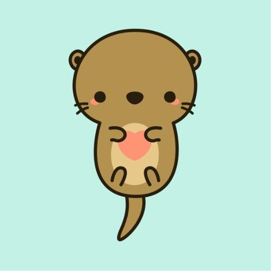 Cute Otter Holly Otters Cute Otter Art Otter Cartoon