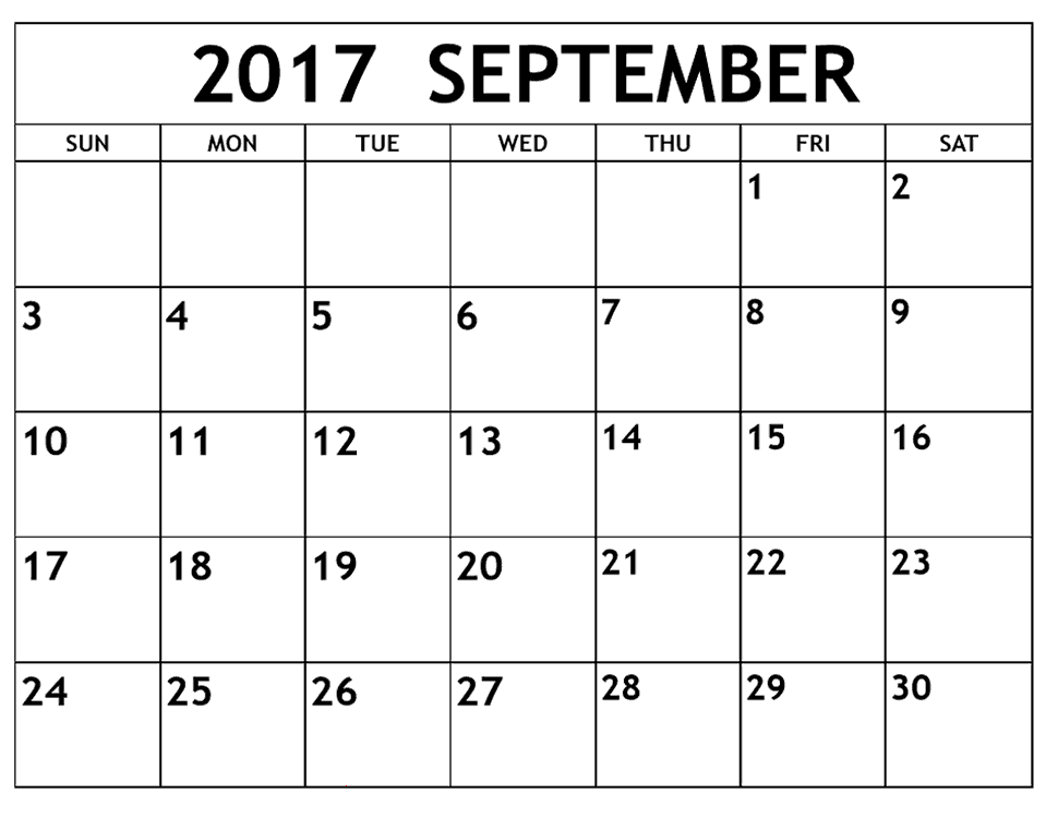 we have the best free september 2017 calendar template designs to
