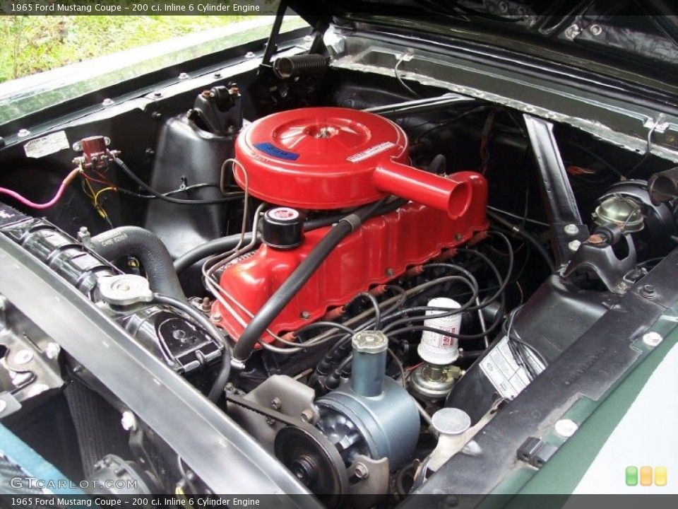 200 c i  Inline 6 Cylinder Engine for the 1965 Ford Mustang