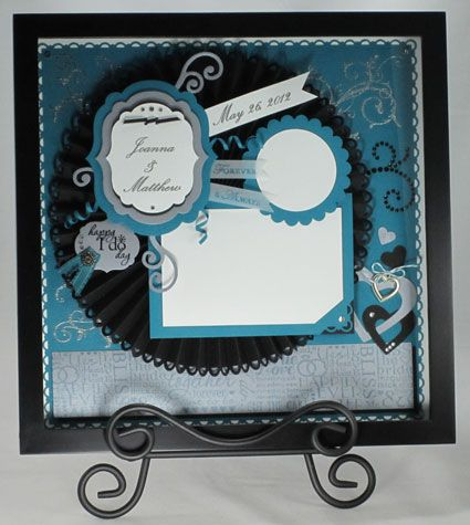 Baroque Motifs Wedding Shadow Box