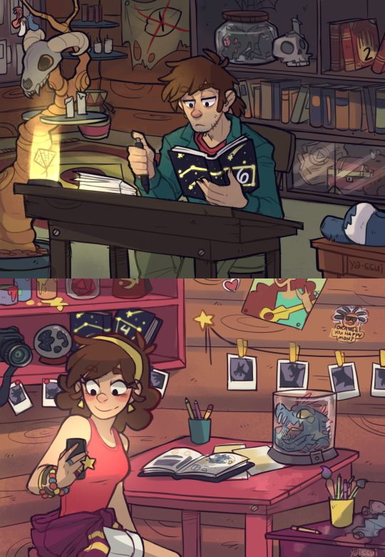 Written by Dipper Pines. Illustrations by Mabel Pines.