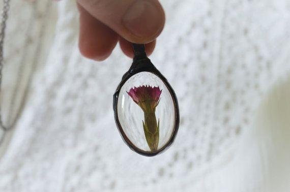 terrarium necklacetiny flower necklacenecklace with by ZokaKurylov