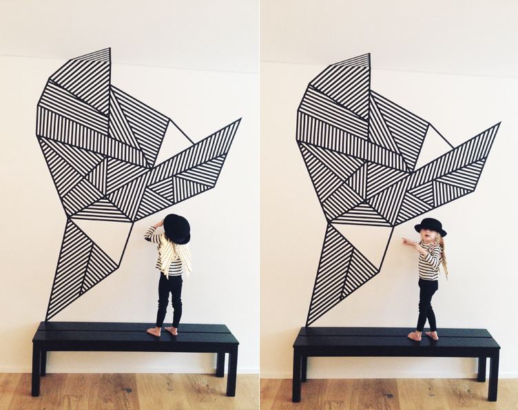 Washi Tape Wall Art 111 best art: masking & washi tape images on pinterest | tape wall