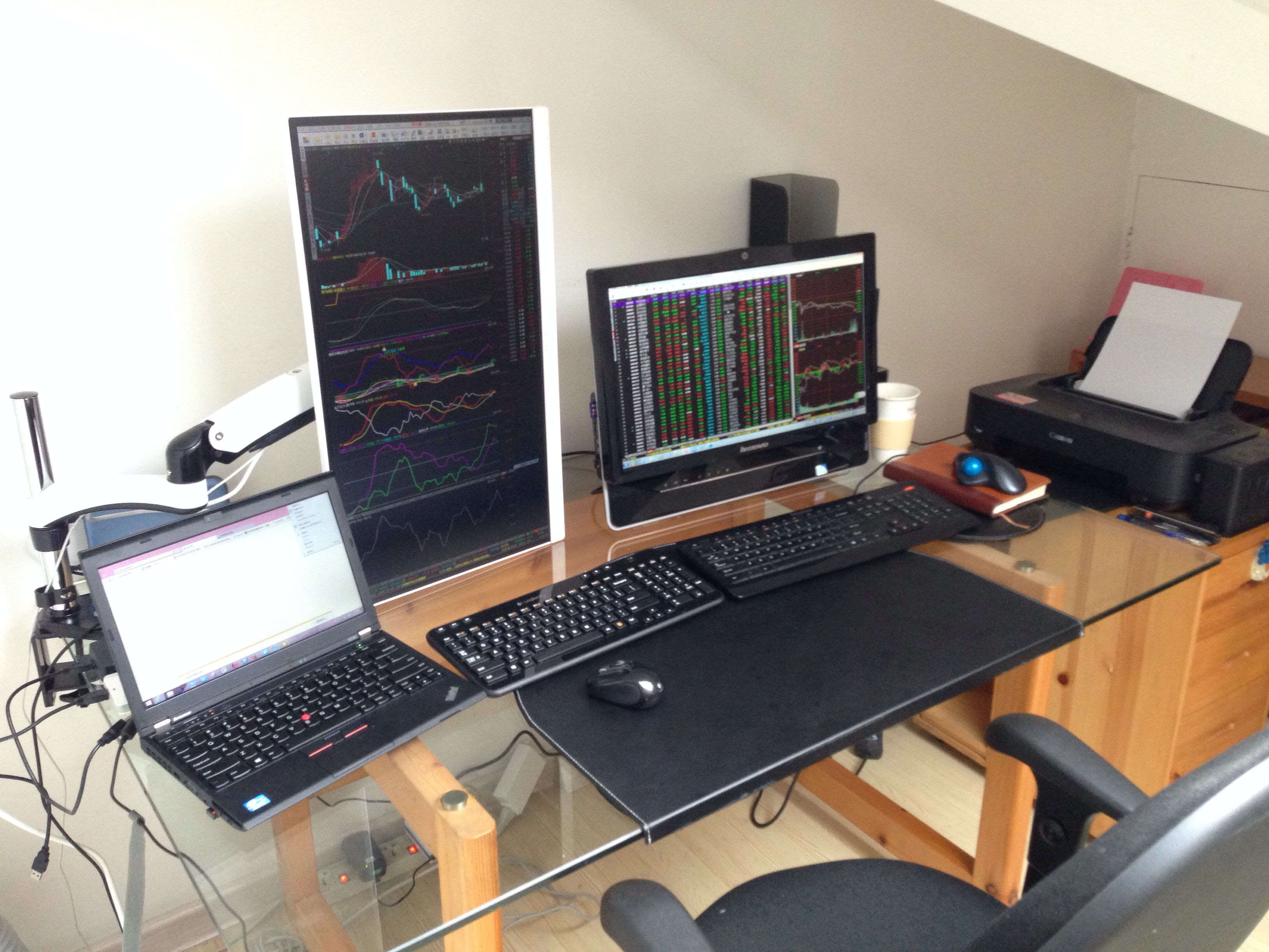 My Trading Room Trading Desk Computer Room Room Upgrade