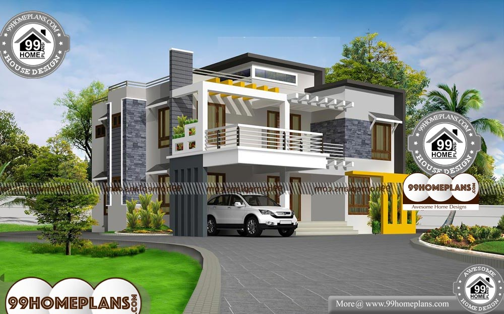 Modern Box House Plans With Double Floor Box Type Contemporary Plans Small House Front Design Box Houses House Plans
