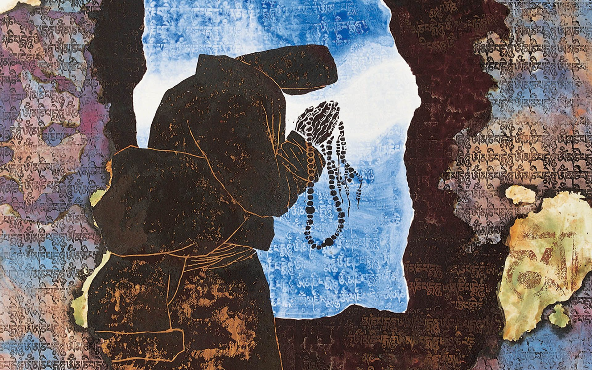 Tibetan Art Prints Mandala Boddhisattva Buddhism