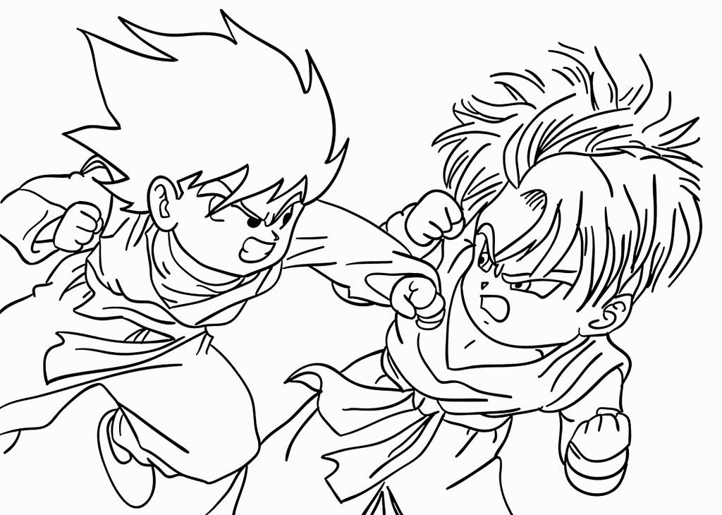 Printable Dragon Ball Z Coloring Pages | Coloring Pages | Pinterest ...
