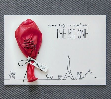 A Red Balloon First Birthday Party Invitation ideas Cards and Wedding