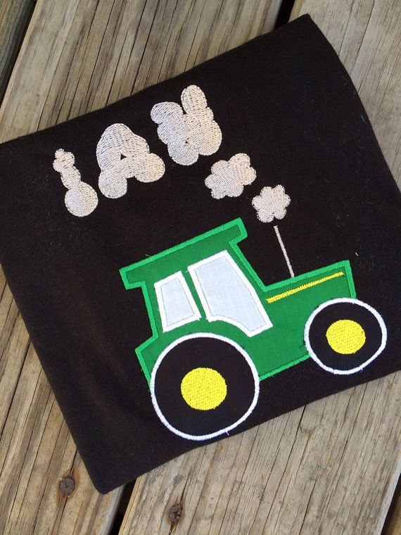 Personalized john Deere tractor inspired by MamasLittleWorkshop, $25.00
