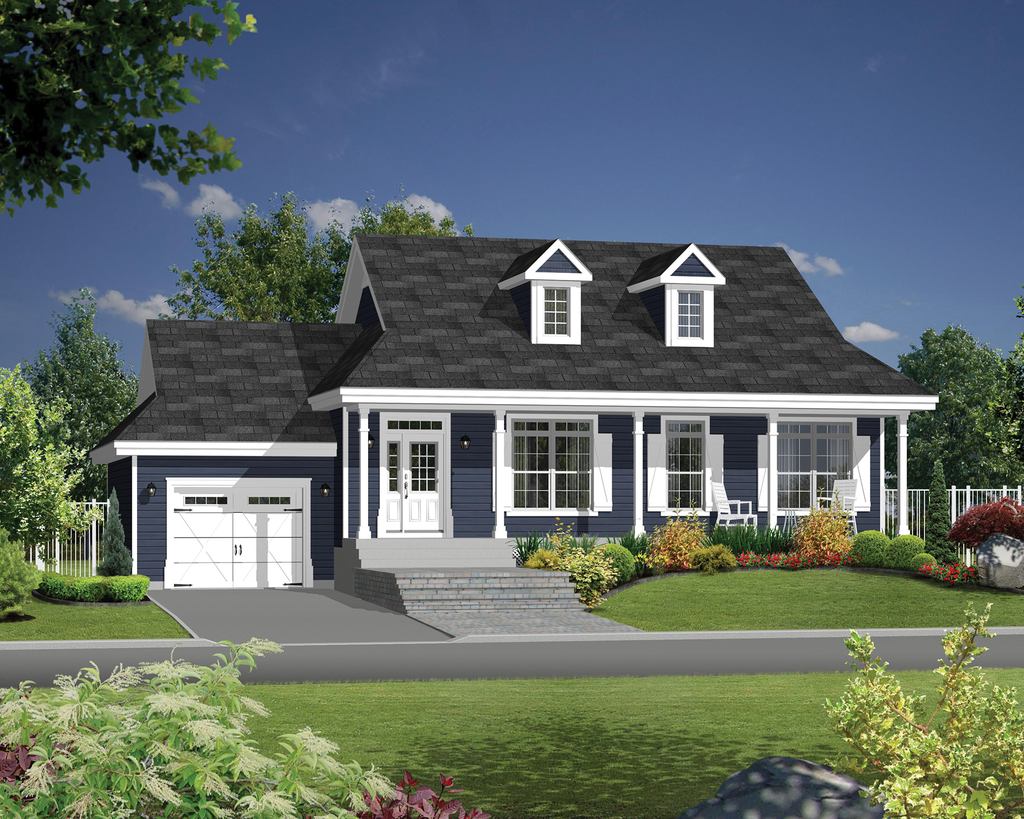 Country Style House Plan 2 Beds 1 Baths 1200 Sq Ft Plan 25 4387