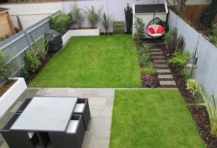 The back part of this garden is a similar size to our new for Garden design east london