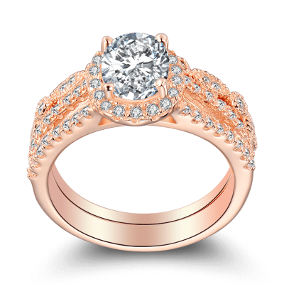 Exceptional Rose Gold Engagement Rings Under 200$