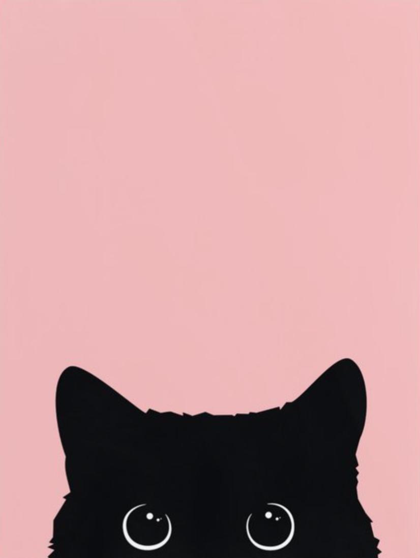 Black Cat Black cat drawing, Cat phone wallpaper, Black