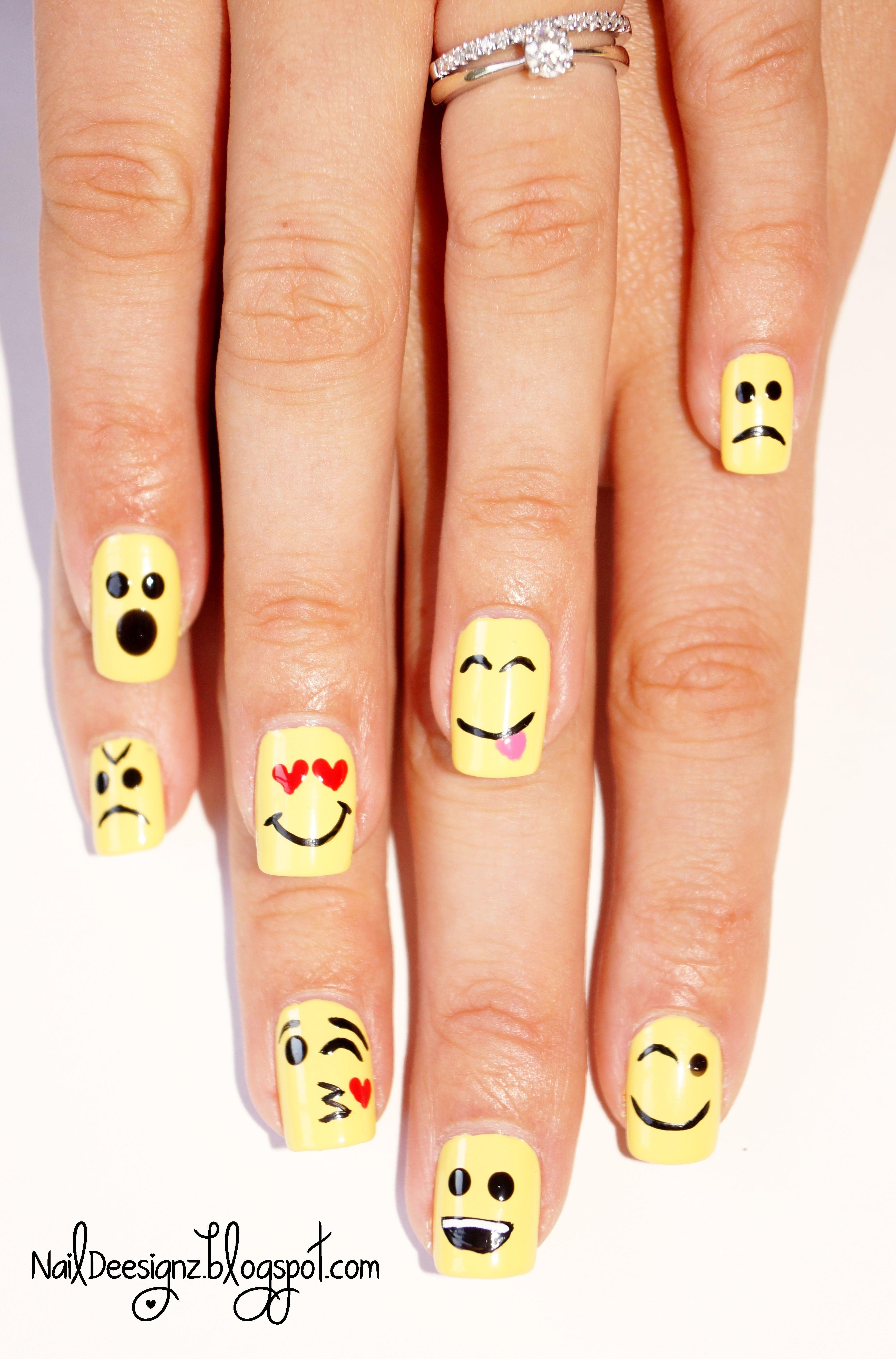 Emoticon Nail Art X Httpnaildeesignzspot201409
