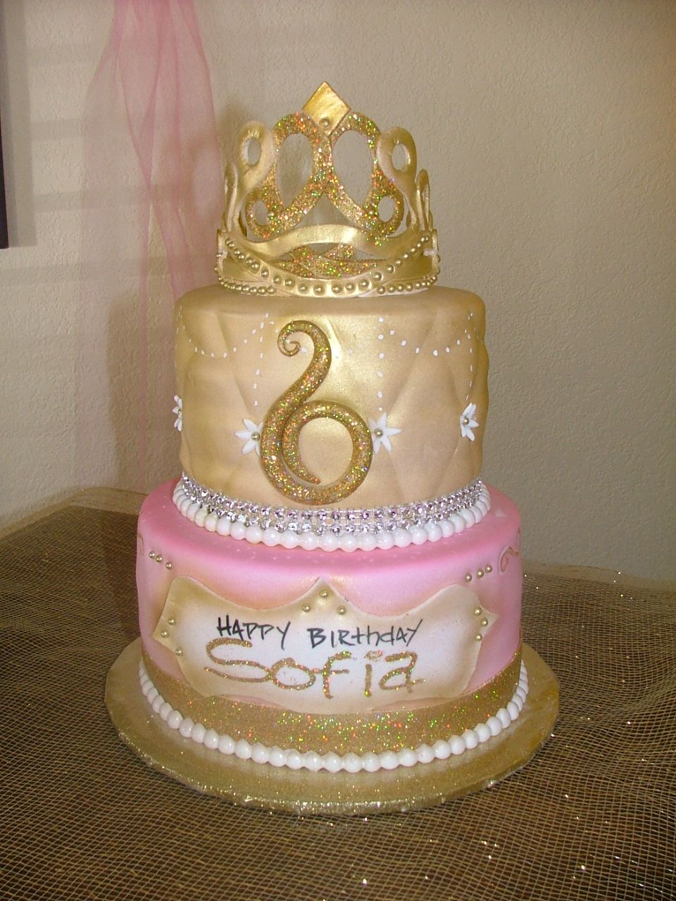 Golden Birthday Cake