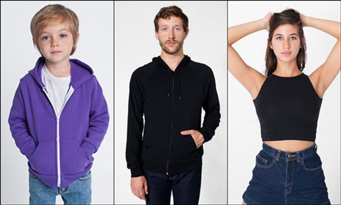 American Apparel for Men Women and Youth from NYFifth