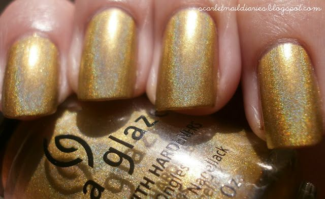 China Glaze - GR8  Color : Warm golden yellow bronze-y gold