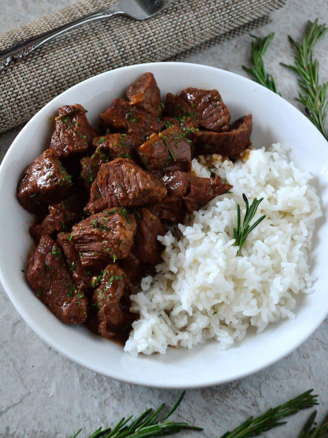 Garlic And Rosemary Beef Tips Coop Can Cook Recipe Beef Tips Savory Dinner Recipes