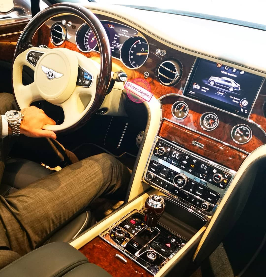 Bentley Interior Luxury Car: #bentley #mulsanne #bentleymulsanne #uae #karimhaddad