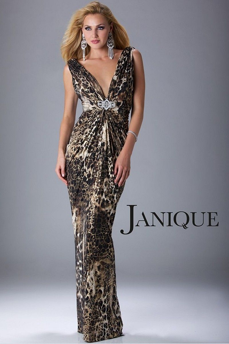 Dare to tease with the seductive column silhouette of janique
