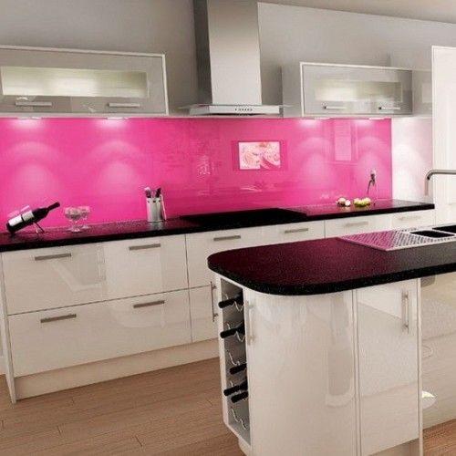 19 Disenos De Cocinas En Color Rosa Cocinas Coloridas Diseno De