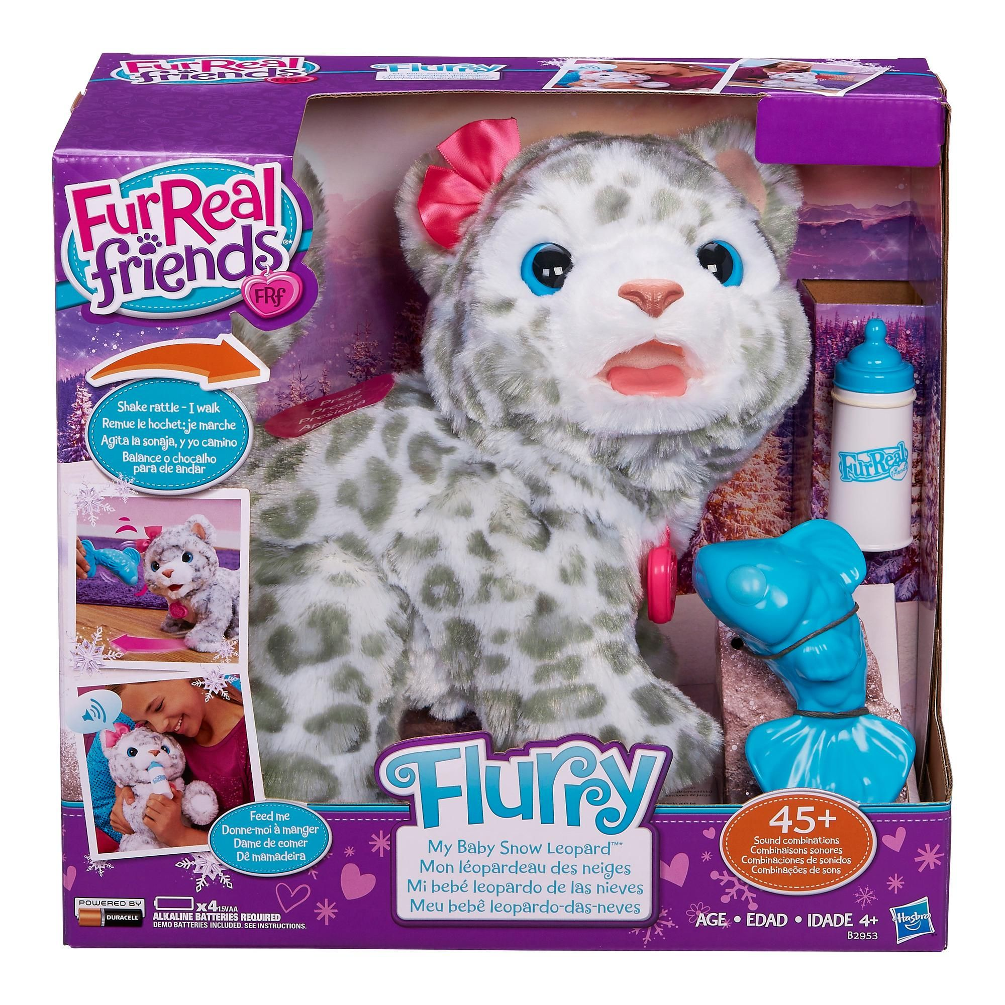 Furreal Friends Flurry My Baby Snow Leopard Pet Amazon Exclusive
