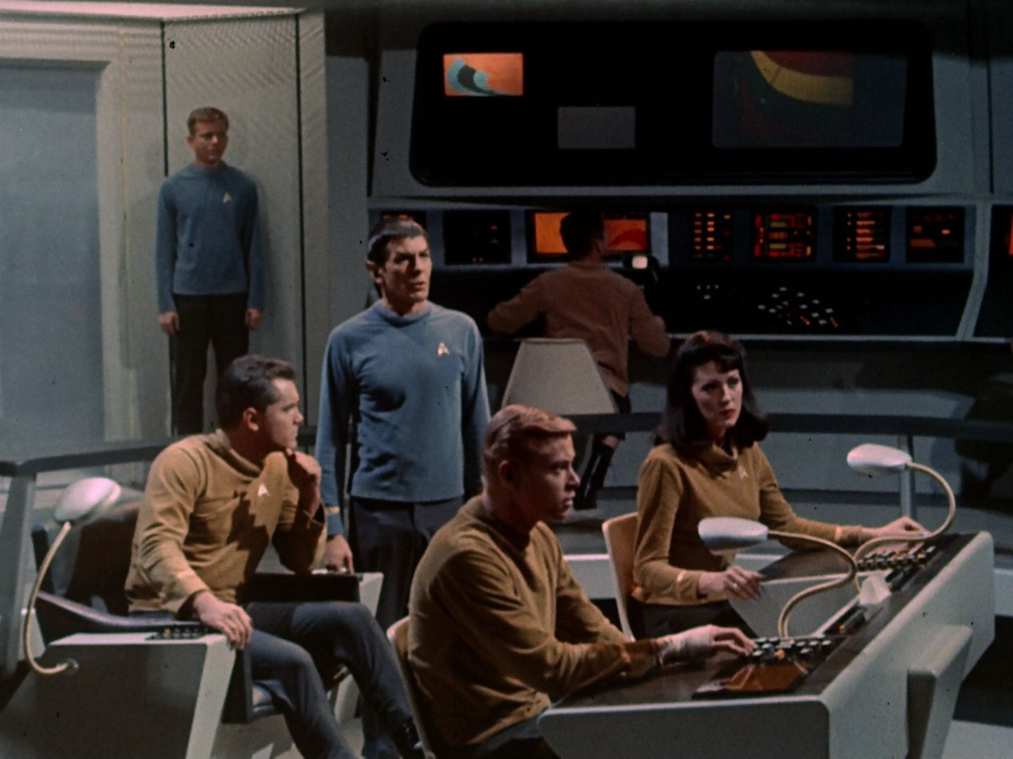 Star Trek: the Original Series. Season 1. Pilot/Episode 1: The Cage. USS Enterprise. the Bridge